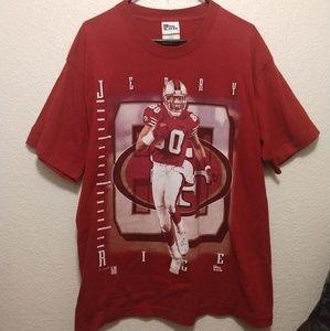 Vintage Jerry Rice Single Stitch Shirt Large